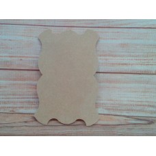 4mm Thick MDF Oblong fancy plaque  150mm wide pack of 2